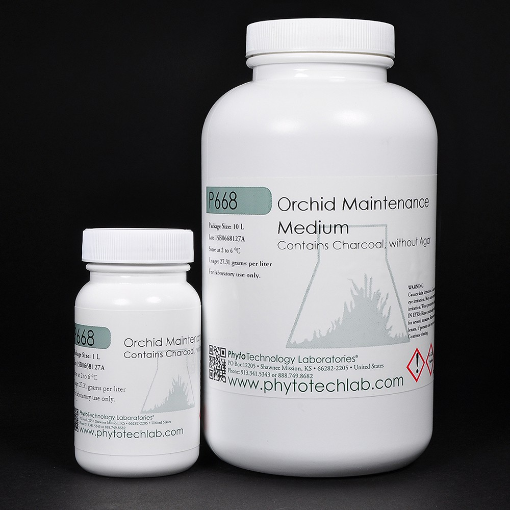 P668 Orchid Maintenance Medium with Charcoal, without Agar 0,5L